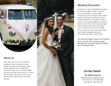 marriage brochure 3 marriage  brochure templates free
