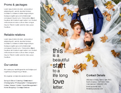 marriage brochure 6 templates for marriage  brochure