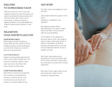 massage brochure 2 massage therapy  brochure templates