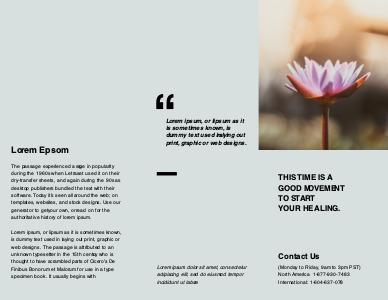massage brochure 5 free massage  brochures samples