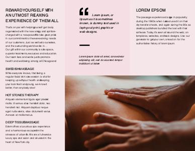 massage brochure 7 free printable massage  brochure