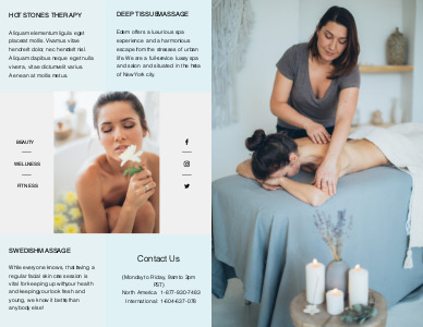 massage brochure 8 custom massage  brochure design online
