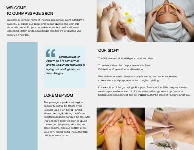 massage brochure 9 massge  brochure template images