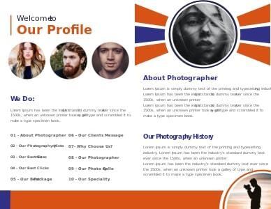 photography brochure 2 photography  brochure template free