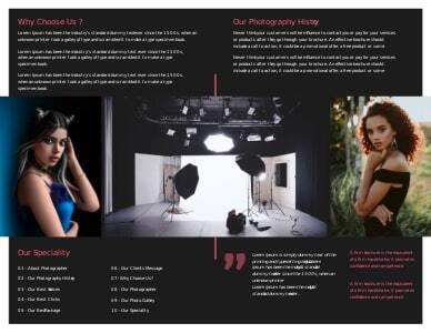 photography brochure 4 photography  brochure examples