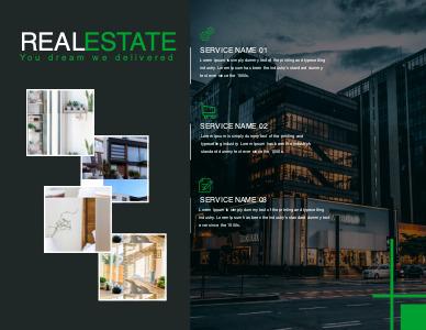 realestate brochure 3 real estate  brochure template free