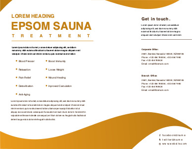 sauna brochure 3 sauna  brochure design ideas