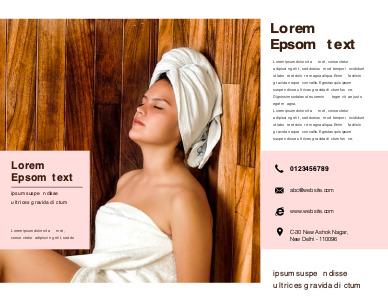 sauna brochure 5 custom sauna  brochure design
