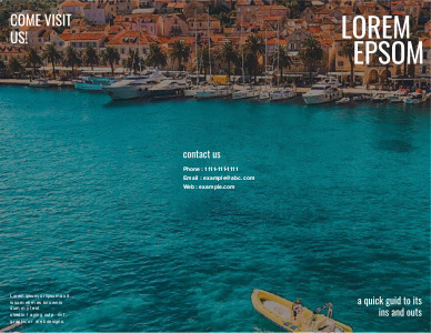 travel brochure 4 example of travel  brochure