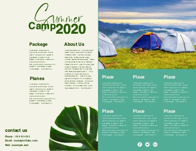 travel brochure 8 free summer camp  brochures