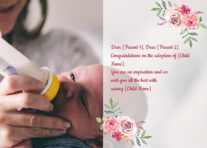 adoption card 60 person human