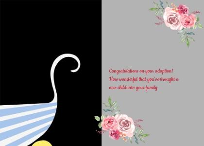 adoption card 61 graphics art