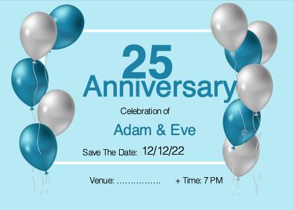 anniversary card 1 balloon ball
