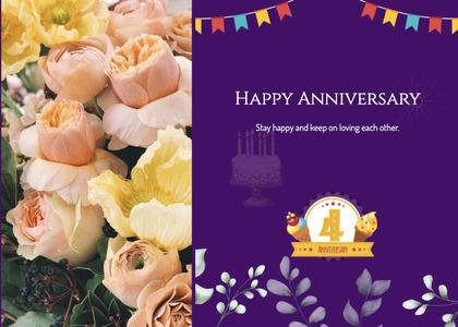 anniversary card 108 petal plant