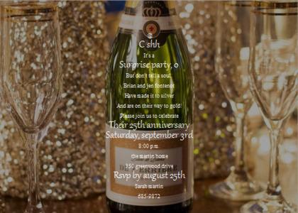 anniversary card 11 bottle beverage