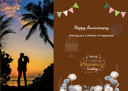 anniversary card 112 person poster