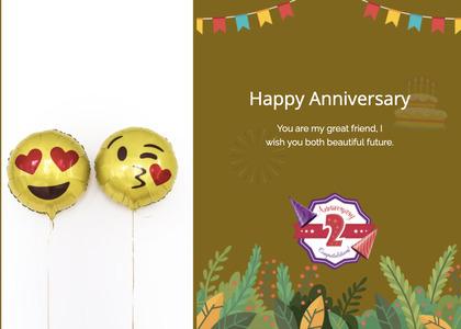 anniversary card 114 balloon ball