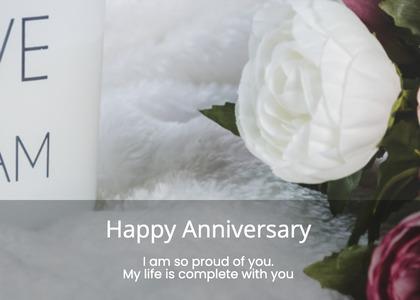anniversary card 121 plant flower