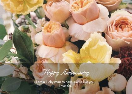 anniversary card 126 plant flower