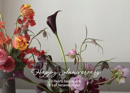 anniversary card 127 floraldesign graphics
