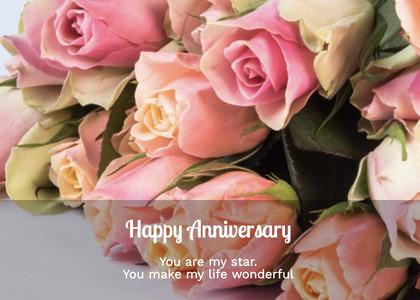 anniversary card 129 plant flowerbouquet