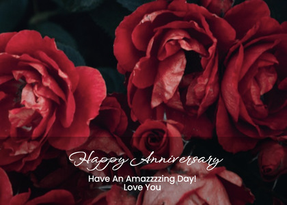 anniversary card 132 rose plant