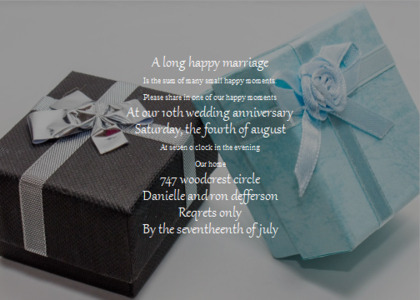 anniversary card 15 gift text