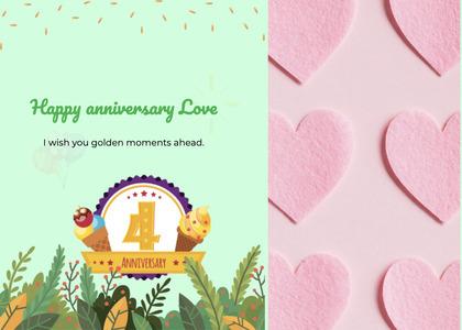anniversary card 17 paper temptag