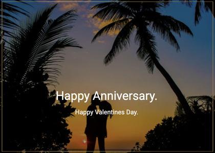 anniversary card 170 silhouette person
