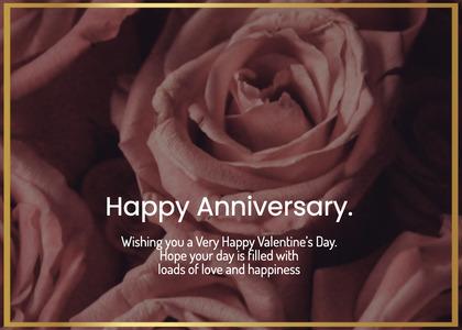 anniversary card 174 rose plant