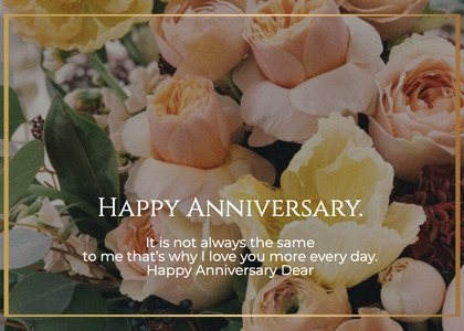 anniversary card 183 plant flower