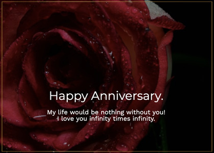 anniversary card 184 plant rose