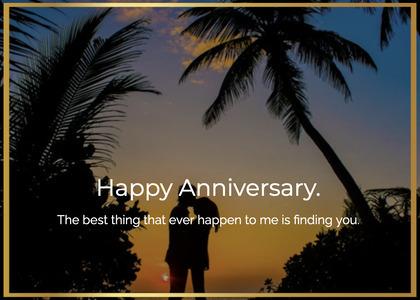 anniversary card 188 person silhouette