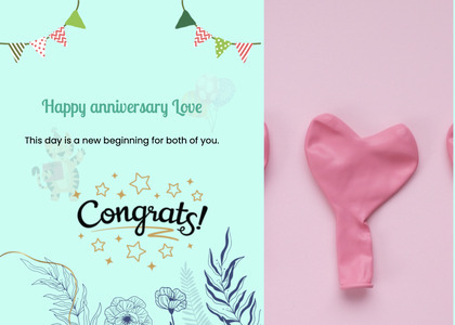 anniversary card 19 text paper