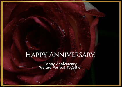anniversary card 190 rose plant