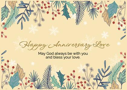 anniversary card 195 floraldesign graphics