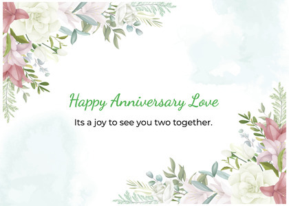anniversary card 197 floraldesign graphics