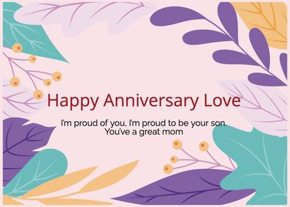anniversary card 198 graphics art