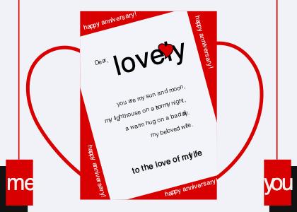 anniversary card 2 paper advertisement