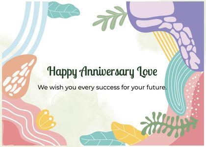anniversary card 203 graphics art