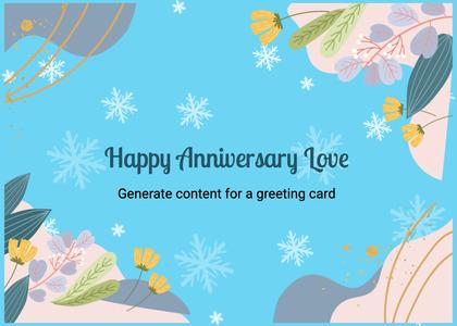 anniversary card 206 envelope mail