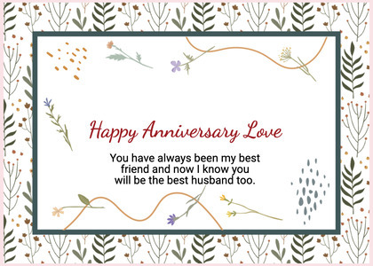 anniversary card 207 text paper