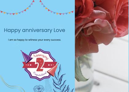 anniversary card 31 plant flower