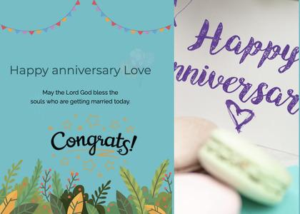 anniversary card 34 text greeting card