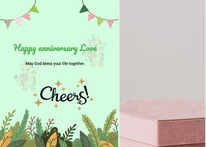 anniversary card 39 box mail