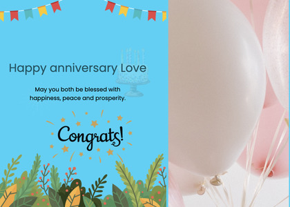 anniversary card 40 paper poster