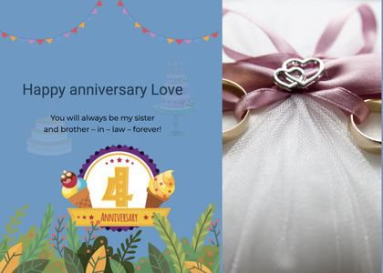 anniversary card 41 paper flyer