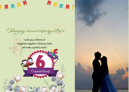 anniversary card 42 person clothing