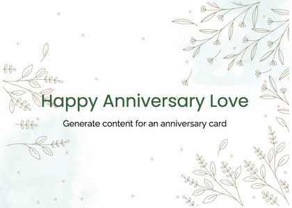 anniversary card 45 text page