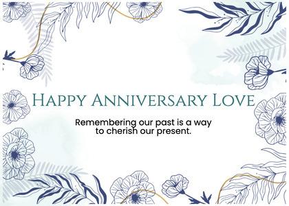 anniversary card 50 bird animal